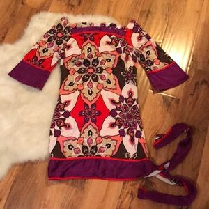 Bebe reversible silk dress size extra small